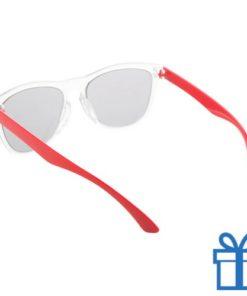 Zonnebril op maat deel 2 rood bedrukken