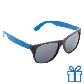 Zonnebril promotie blauw bedrukken