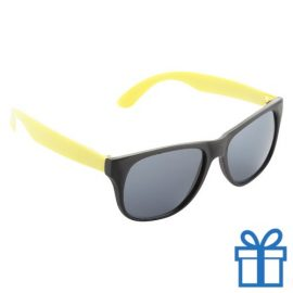 Zonnebril promotie geel bedrukken