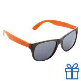 Zonnebril promotie oranje bedrukken