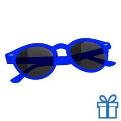 Zonnebril ronde glazen blauw bedrukken