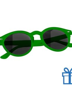 Zonnebril ronde glazen groen bedrukken