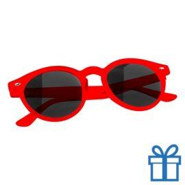 Zonnebril ronde glazen rood bedrukken
