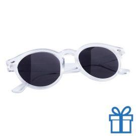 Zonnebril ronde glazen wit bedrukken