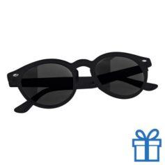 Zonnebril ronde glazen zwart bedrukken