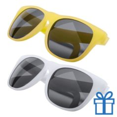 Zonnebril veranderend kleureffect geel bedrukken