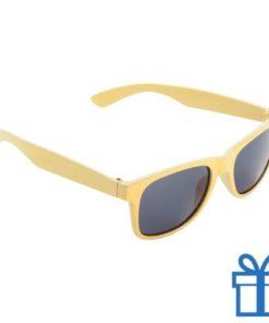 Zonnebril voor kinderen geel bedrukken