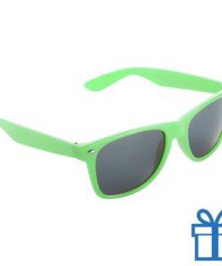Zonnebril wayfarer budget groen bedrukken