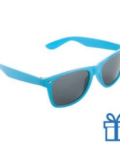 Zonnebril wayfarer budget lichtblauw bedrukken