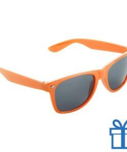 Zonnebril wayfarer budget oranje bedrukken