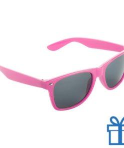 Zonnebril wayfarer budget roze bedrukken