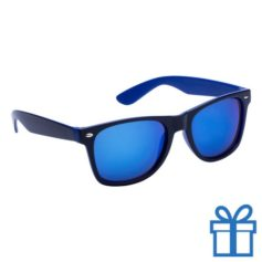 Zonnebril wayfarer dubbelkleurig blauw bedrukken