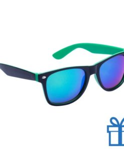 Zonnebril wayfarer dubbelkleurig groen bedrukken