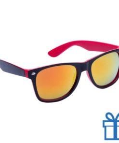 Zonnebril wayfarer dubbelkleurig rood bedrukken