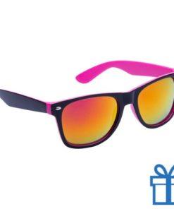 Zonnebril wayfarer dubbelkleurig  roze bedrukken