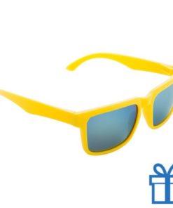 Zonnebril wayfarer goedkoop geel bedrukken