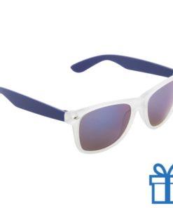 Zonnebril wayfarer metallic blauw bedrukken