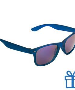 Zonnebril wayfarer transparant metallic blauw bedrukken