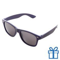 Zonnebrillen doming druktechniek blauw bedrukken