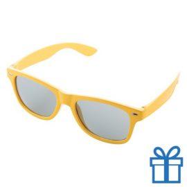 Zonnebrillen doming druktechniek geel bedrukken