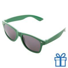 Zonnebrillen doming druktechniek groen bedrukken