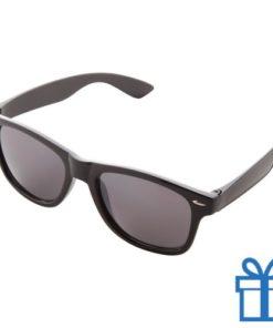 Zonnebrillen doming druktechniek zwart bedrukken