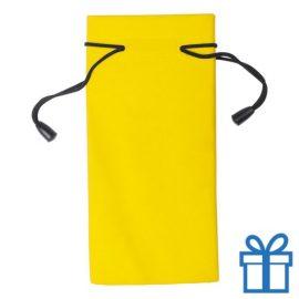 Zonnebrilzakje poly geel bedrukken