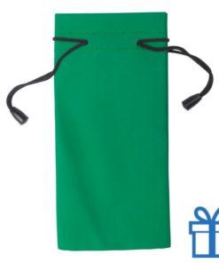 Zonnebrilzakje poly groen bedrukken