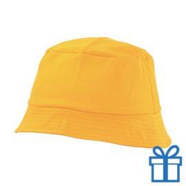 Zonnehoed katoen geel bedrukken