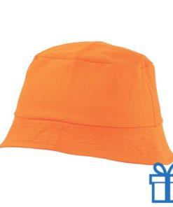 Zonnehoed katoen oranje bedrukken