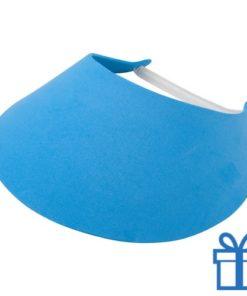 Zonneklep blauw bedrukken