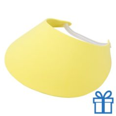 Zonneklep geel bedrukken