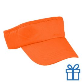 Zonneklep katoen oranje bedrukken