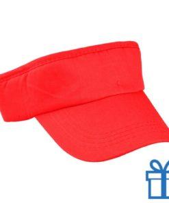 Zonneklep katoen rood bedrukken