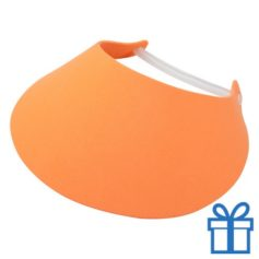 Zonneklep oranje bedrukken