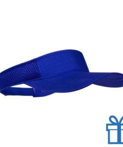 Zonnescherm koord klittenband blauw bedrukken