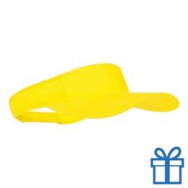 Zonnescherm koord klittenband geel bedrukken