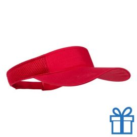 Zonnescherm koord klittenband rood bedrukken