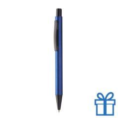 Zwarte balpen met metallic kleuren blauw