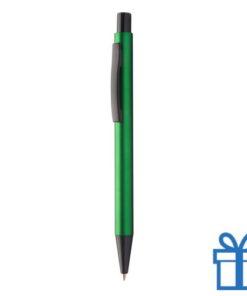 Zwarte balpen met metallic kleuren groen