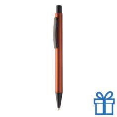 Zwarte balpen met metallic kleuren oranje