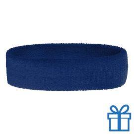 Zweetband dun blauw bedrukken
