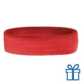 Zweetband dun rood bedrukken