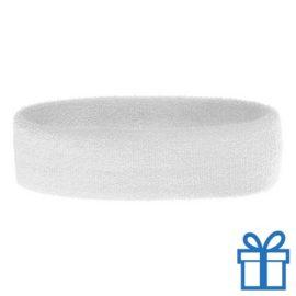 Zweetband dun wit bedrukken