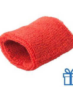 Zweetbandje sport rood bedrukken