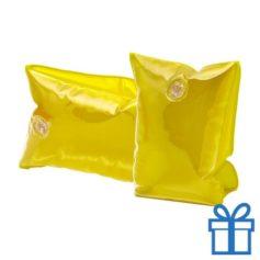 Zwembandjes geel transparant bedrukken