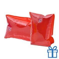 Zwembandjes rood transparant bedrukken