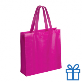 Gelamineerde non-woven shopper 110gram roze
